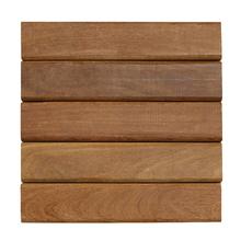 Mini Deck Modular de Madeira Ipê / Champanhe 35x35cm Keywoods