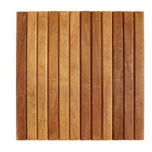 Mini Deck Modular de Madeira Ipê / Champanhe 50x50cm Keywoods