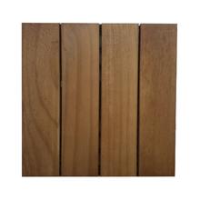 Mini Deck Modular de Madeira Pinus Jatobá 30x30cm Massol
