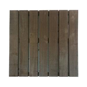 Mini Deck Modular de Madeira Pinus Nogueira 50x50cm Massol
