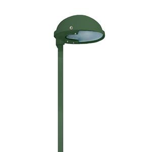Mini Poste LED Alloy Redondo Metal Verde Bivolt