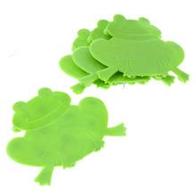 Mini Tapete de Banheiro 4 peças Figura Plástico Verde e Cristal Tusne