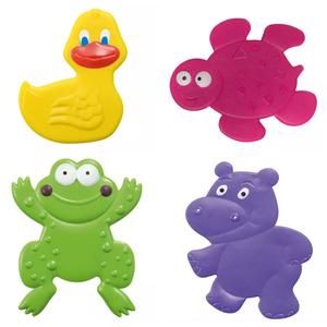 Mini Tapete de Banheiro Plástico 4 peças Bath and Fun MultiKids Baby