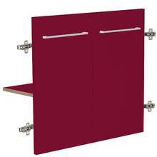 Módulo 2 Portas e 1 Prateleira 60x32cm Vermelho Remix Móveis Bechara