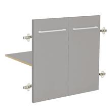 Módulo 2 Portas e 1 Prateleira 60x46cm Cinza Remix Móveis Bechara