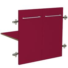 Módulo 2 Portas e 1 Prateleira 60x46cm Vermelho Remix Móveis Bechara