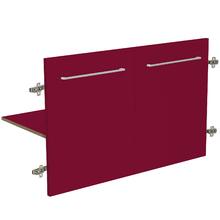 Módulo 2 Portas e 1 Prateleira 90x46cm Vermelho Remix Móveis Bechara