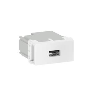 Módulo Carregador USB Branco Refinatto WEG