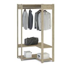 Módulo Closet Carvalho Claro 180x90,6x90,2cm Rivera Politorno