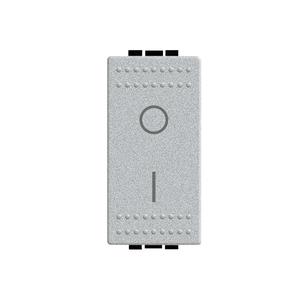 Módulo de Interruptor Bipolar Simples 16A 250V Aluminio LivingLight Bticino