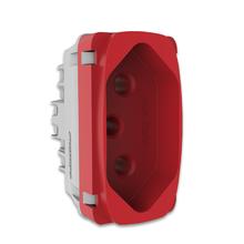 Módulo de Tomada 2P+T 20A Vermelho Gracia Alumbra