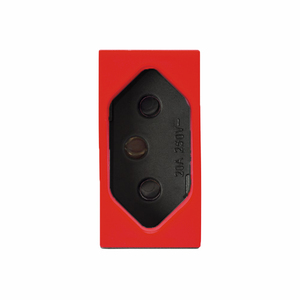 Módulo de Tomada 2P+T NBR Vermelha Vivace Carbono Siemens