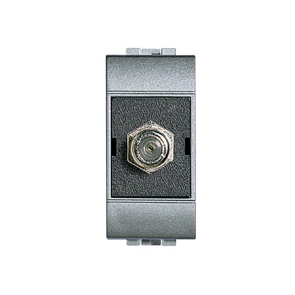 Módulo de Tomada Antena para TV Aluminio LivingLight Bticino