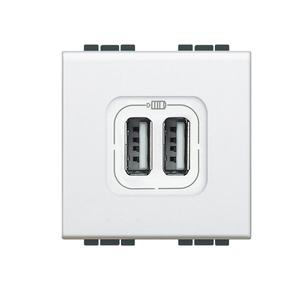 Módulo de Tomada Carregador USB 1500mA Branco LivingLight Bticino