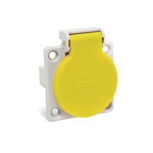 Módulo de Tomada de Embutir Industrial Amarela Steck