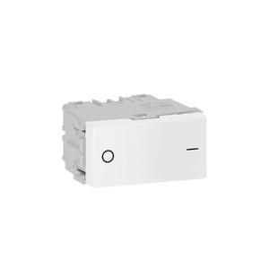 Módulo Interruptor Bipolar Simples 10A/250V Branco Refinatto WEG