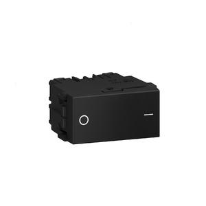 Módulo Interruptor Bipolar Simples 10A/250V Preto Refinatto WEG