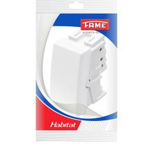 Módulo Interruptor Intermediário 10A 250V Branco Habitat Fame