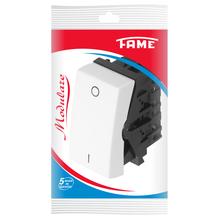 Módulo Interruptor Simples 10A 250V Branco Modulare Fame