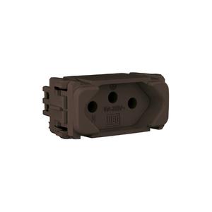 Módulo Tomada 2P+T 10A/250V Marrom Composé WEG