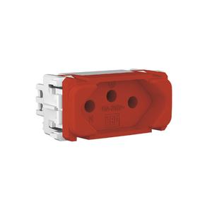 Módulo Tomada 2P+T 10A/250V Vermelho Composé WEG