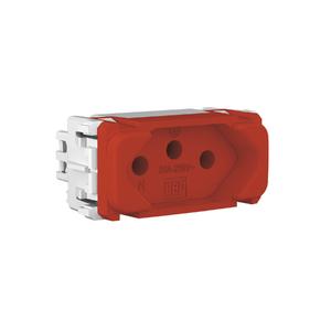 Módulo Tomada 2P+T 20A/250V Vermelho Composé WEG
