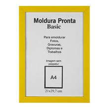 Moldura Pronta Basic Amarela 21x30cm Casa Castro