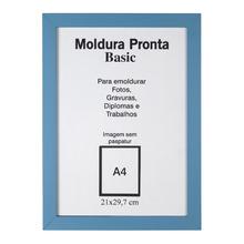 Moldura Pronta Basic Azul 21x30cm Casa Castro