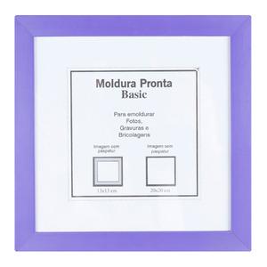 Moldura Pronta Basic Roxo 20x20cm Casa Castro