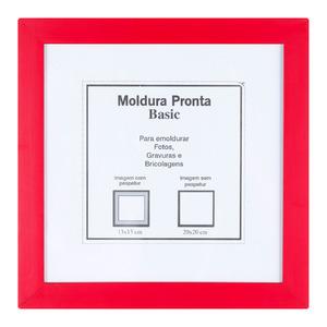 Moldura Pronta Basic Vermelha 20x20cm Casa Castro