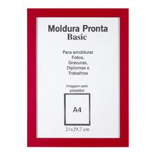 Moldura Pronta Basic Vermelha 21x30cm Casa Castro