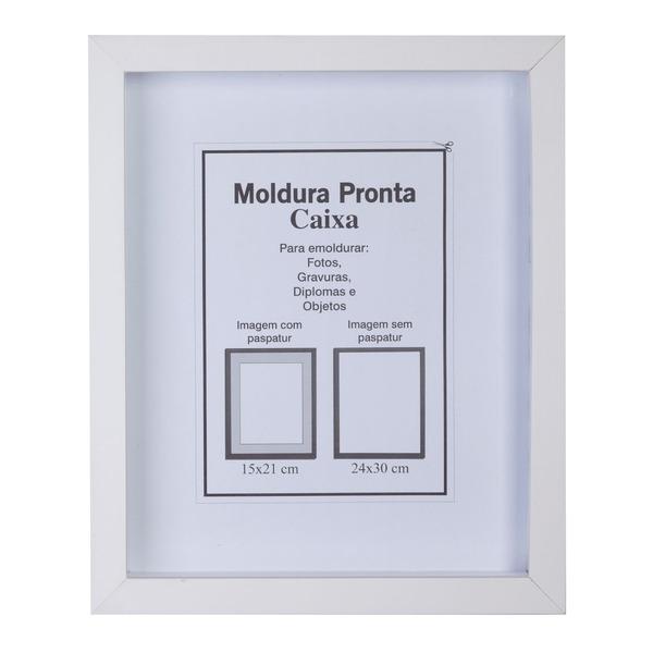 Moldura pronta caixa branca 24x30cm leroy merlin - Molduras leroy merlin ...