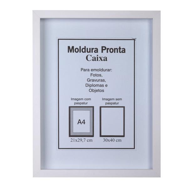 Moldura pronta caixa branca 30x40cm leroy merlin - Molduras de poliestireno leroy merlin ...