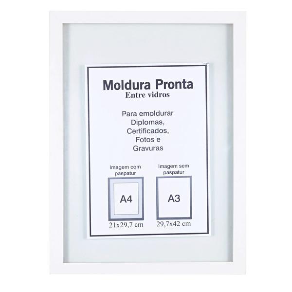 Moldura pronta entre vidro branca 30x42cm leroy merlin - Molduras de poliestireno leroy merlin ...