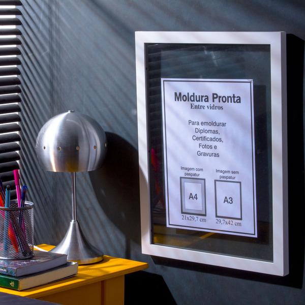Moldura pronta entre vidro branca 30x42cm leroy merlin - Molduras para cuadros leroy merlin ...