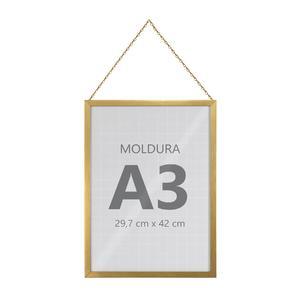 Moldura Pronta Fit Corrente Gold 42x30cm