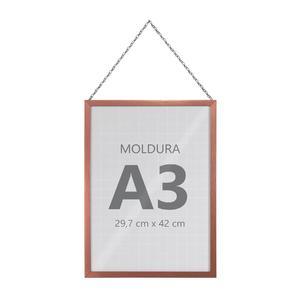 Moldura Pronta Fit Corrente Rose 42x30cm