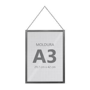 Moldura Pronta Fit Corrente Silver 42x30cm