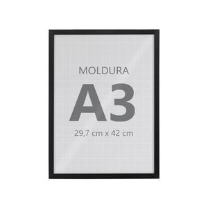 Moldura Pronta Fit Vidro Black 42x30cm