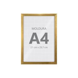 Moldura Pronta Fit Vidro Gold 30x21cm