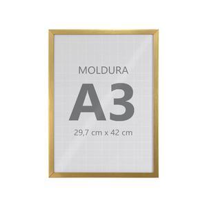 Moldura Pronta Fit Vidro Gold 42x30cm