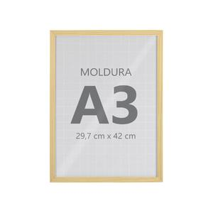Moldura Pronta Fit Vidro Pinus 42x30cm