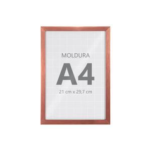 Moldura Pronta Fit Vidro Rose 30x21cm