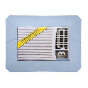 Moldura Regulável para Ar Condicionado Janela Azul de 5000 até 30000 BTUs Molduflex