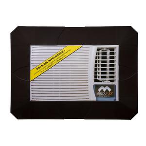 Moldura Regulável para Ar Condicionado Janela Preto de 5000 até 30000 BTUs Molduflex