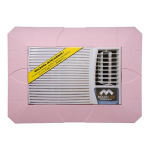 Moldura Regulável para Ar Condicionado Janela Rosa de 5000 até 30000 BTUs Molduflex