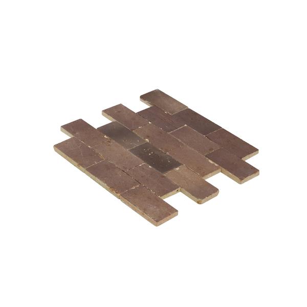 Mosaico brick bege natural 31 5x27cm leroy merlin for Mosaico leroy merlin