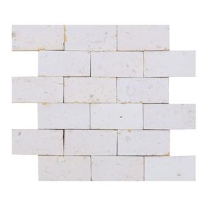 Mosaico Brick Branco Natural 31,5x27cm Artens