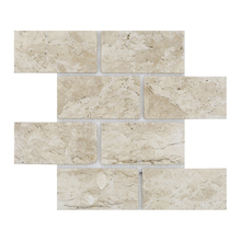 Mosaico Brique Travertino 35x29,5cm Artens
