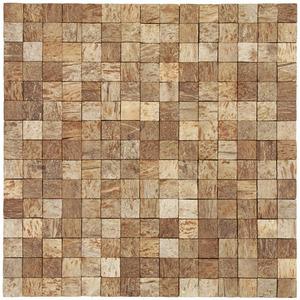 Mosaico Casca de Coco Acetinado Eccos Angra 30x30cm Colormix